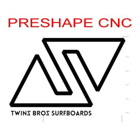 Servizio Preshape usando un modello Twinsbros surfboards