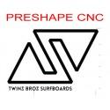 Servizio Preshape (SURFBOARDS) usando un modello Twinsbros surfboards
