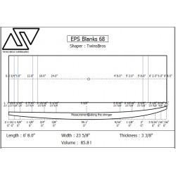 EPS Blanks 6'8'' x 24'' x 3 9/16''