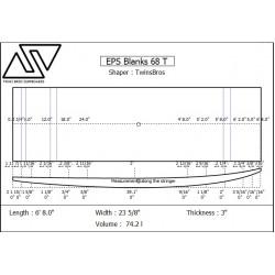 EPS Blanks 6'8'' x 24'' x 3'' Stringerless