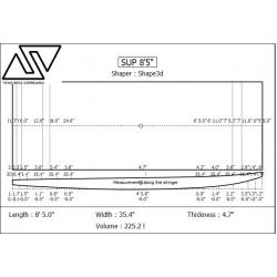 EPS SUP Blanks 8'5'' x 33'' x 4 3/4'' Stringerless