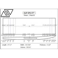 EPS SUP Blanks 10'1'' x 33 1/2'' x 5 1/8'' Stringerless