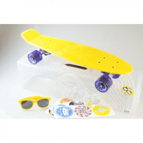 Stereo Cruiser Vinyl Yellow Raw Purple 22.5''