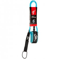 Famous Leash DELUXE 5' COMP LIGHT BLUE