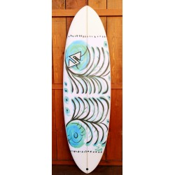 TwinsBros Surfboards - Freaky Adams 6'2''x 21 3/4 x 2 9/16 - 41.1 Litri- Grafica M'eyeself -