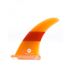 "KOALITION 7'0"" PINNA LONGBOARD SINGLE FIN ORANGE ORANGE"