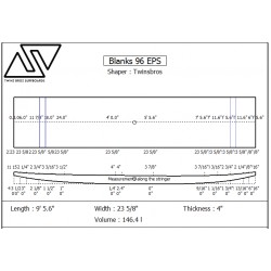 EPS Blanks 9'6'' x 23 5/8'' x 4''