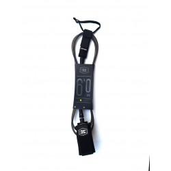 Hurricane leash - 6Ft x 6mm - Black