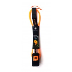 Hurricane leash- BIG WAVE 7Ft x 7mm - Orange/Black