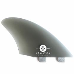 Koalition Fins keel- FCS Fins system K2 fiberglass keel- Smoke