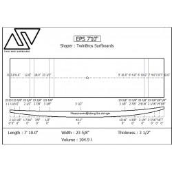 EPS Blanks 7'10'' x 24'' x 3 9/16'' Stringerless