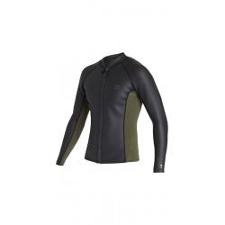 Jacket Front Zip - BILLABONG REVOLUTION 1mm-Militare