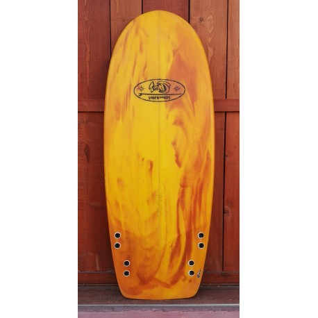 Twinsbros Surfboards - SQUAT 5'0 x 22 1/4 x 2 3/4 -38.2 Litri - Quad
