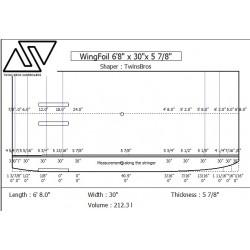 EPS Blanks WING FOIL - 6'8'' x 30'' x 5 7/8''- Stringerless