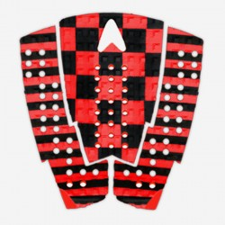 ASTRO Deck Traction- CHRISTIAN FLETCHER RED & BLACK - 3 PIECES Arc Pad