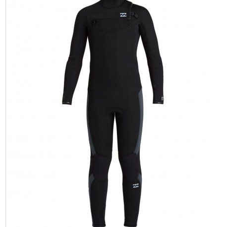 BILLABONG - Furnace ABSOLUTE 5x4 - TG 8 anni - Front zip - Black/grey