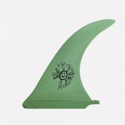 "Captain fin co. - longboard fin - ALEX KNOST FLEX FIN SUNSHINE GREEN 10.0"""