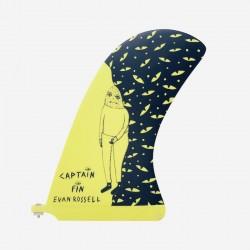 "CAPTAIN FIN CO - Longboard Pivot Fin - Evan Rossel 10 ""- Giallo"