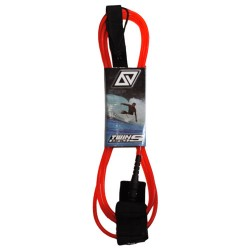 TwinsBros Leash - 10' x 8 mm - rosso